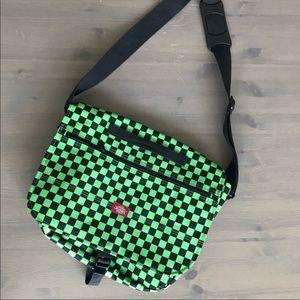 Dickies Green Checker School Crossbody Bag